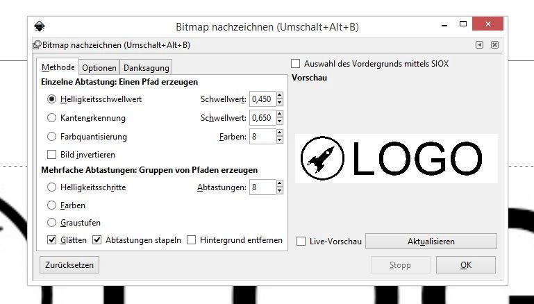 3 Bitmap nachzeichnen