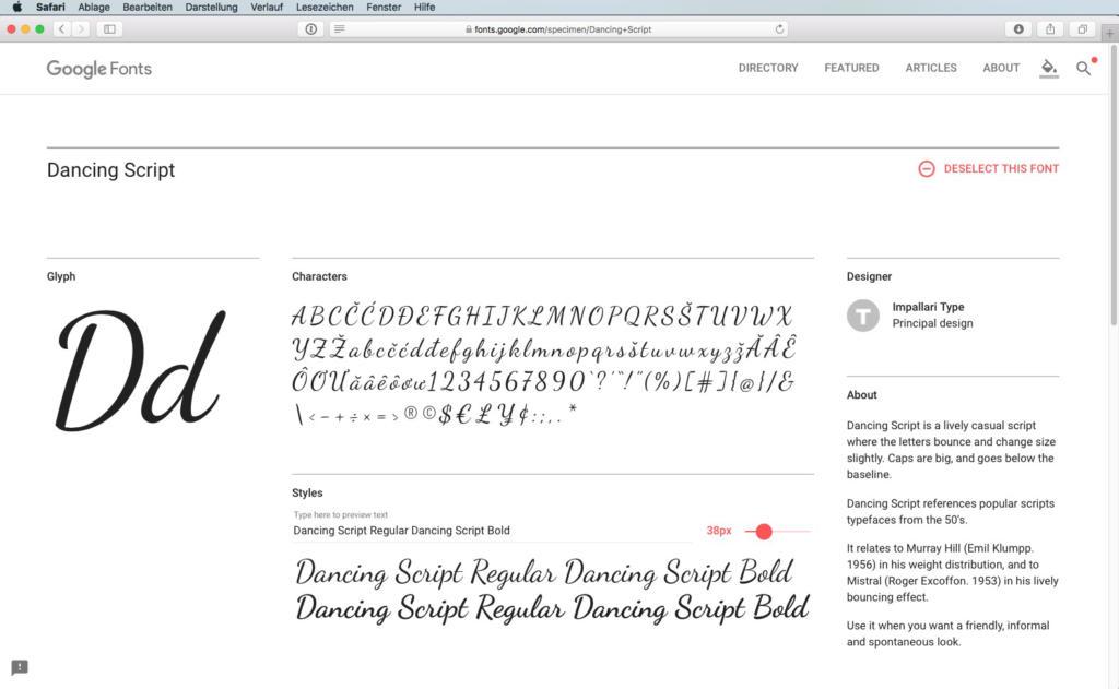 Script-Font Dancing Script Regular