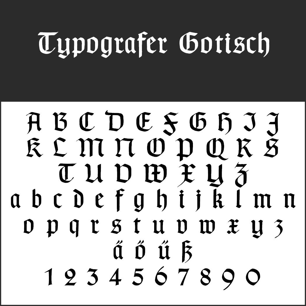 Altdeutsch Buchstaben