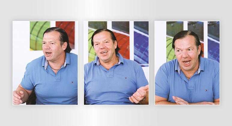 Unternehmer Walter Meyer beim Gespräch