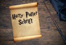 Beitragsbild Harry Potter Schrift