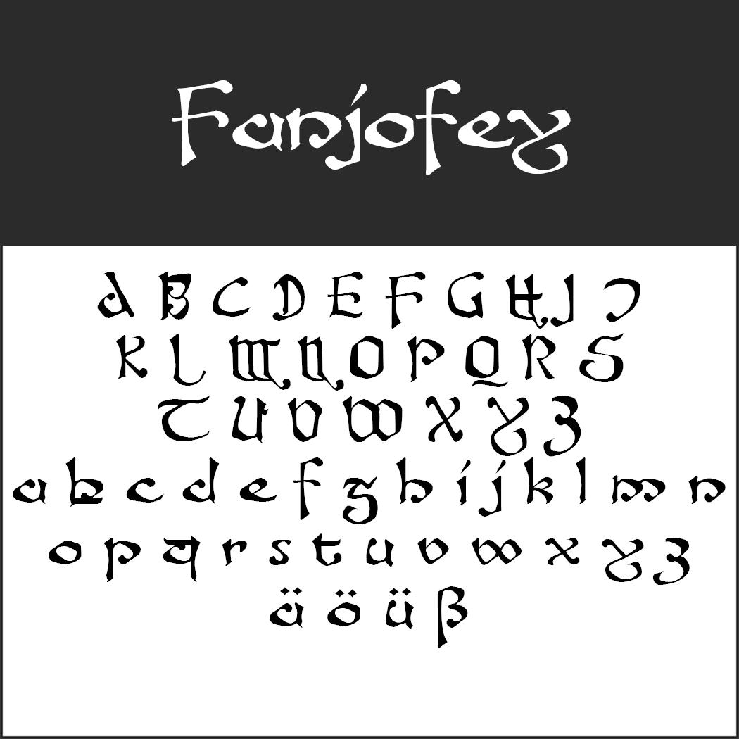 """""""Herr der Ringe""""-Schrift: Fanjofey by Fontgrube Media Design"""