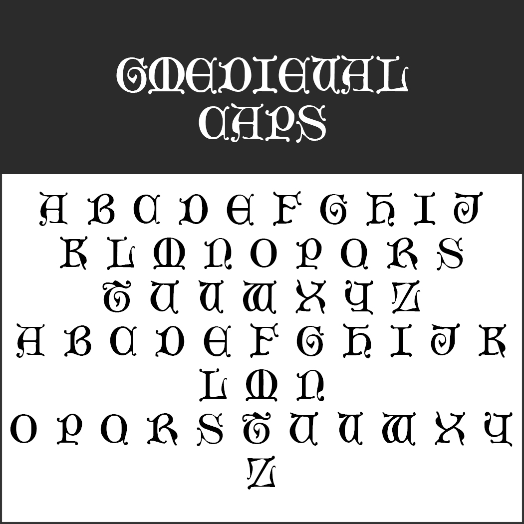 """Herr der Ringe""-Schrift: Mediaeval Caps by Typographer Mediengestaltung"