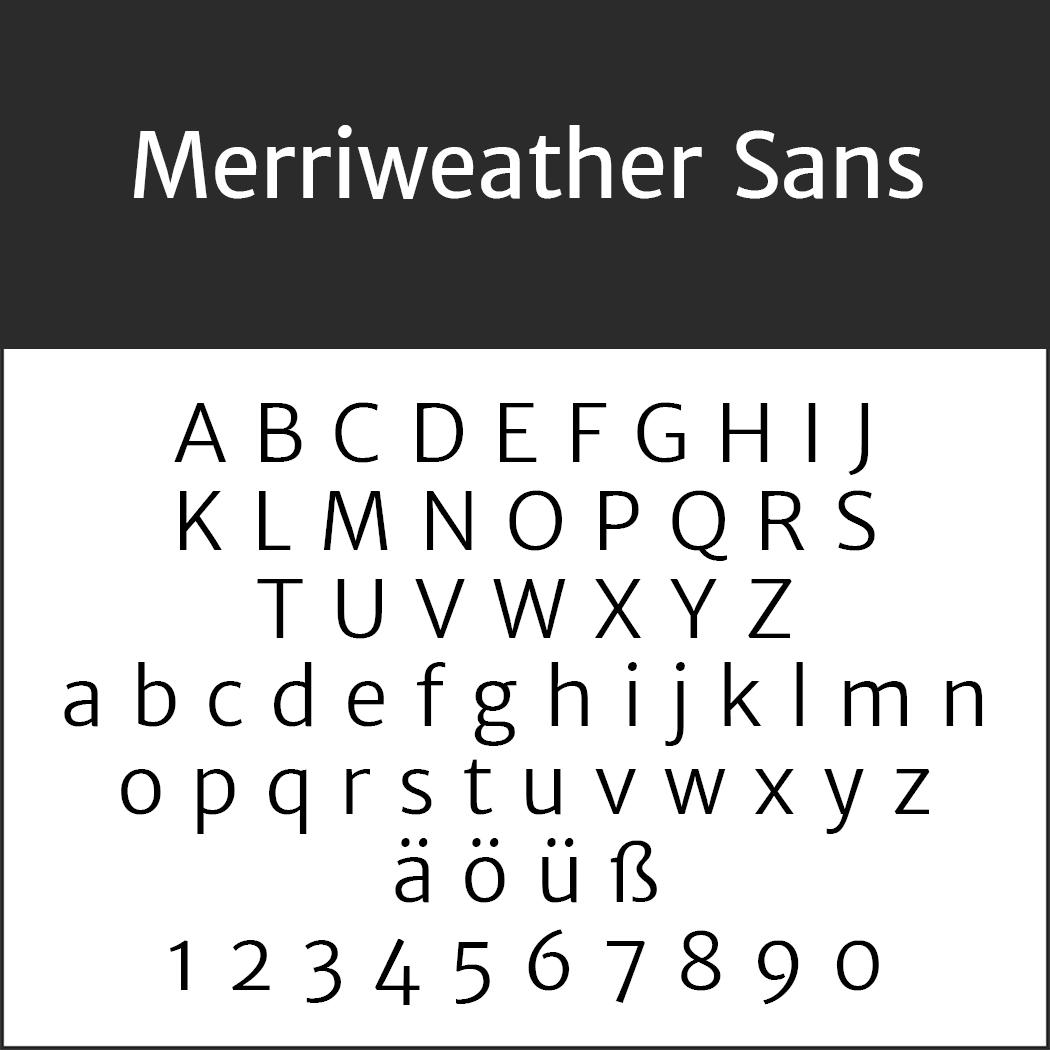 """Jubiläumsschrift """"Merriweather Sans"""""""