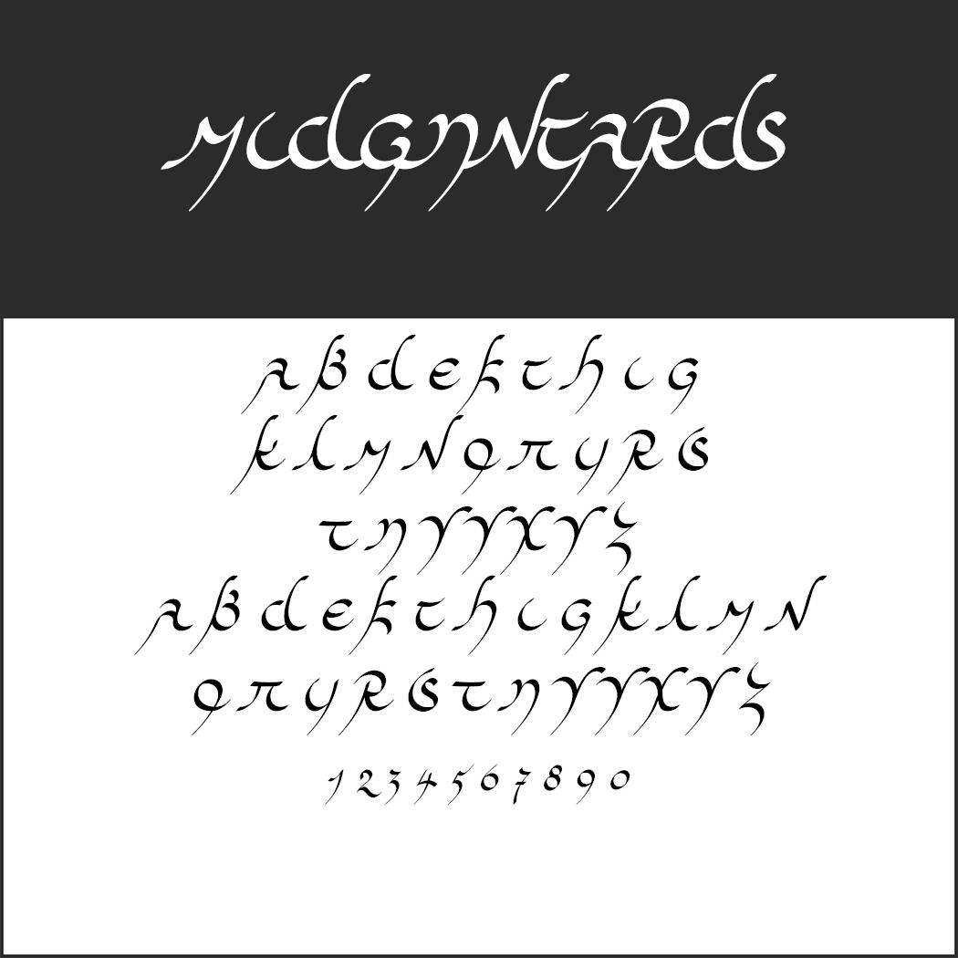 Tengwar-Schrift: Midjungards by Robert Pfeffer