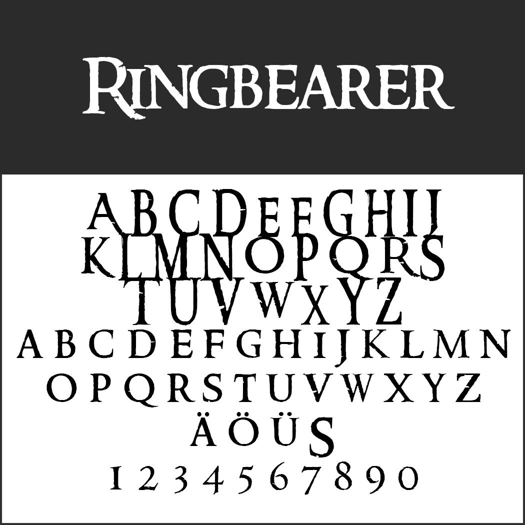 """""""Herr der Ringe""""-Schrift: Ringbearer by thehutt"""