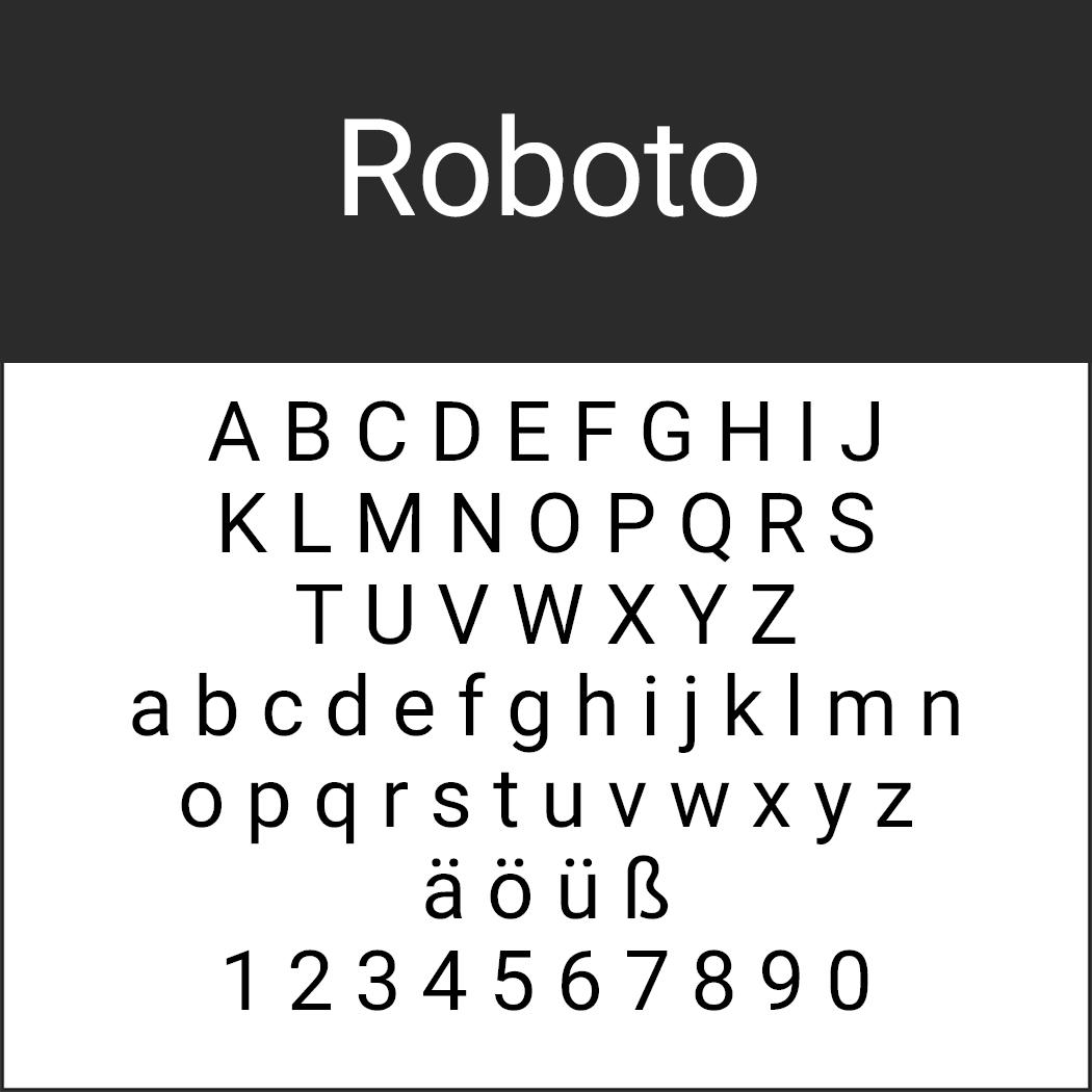 "Font ""Roboto"" by Christian Robertson"