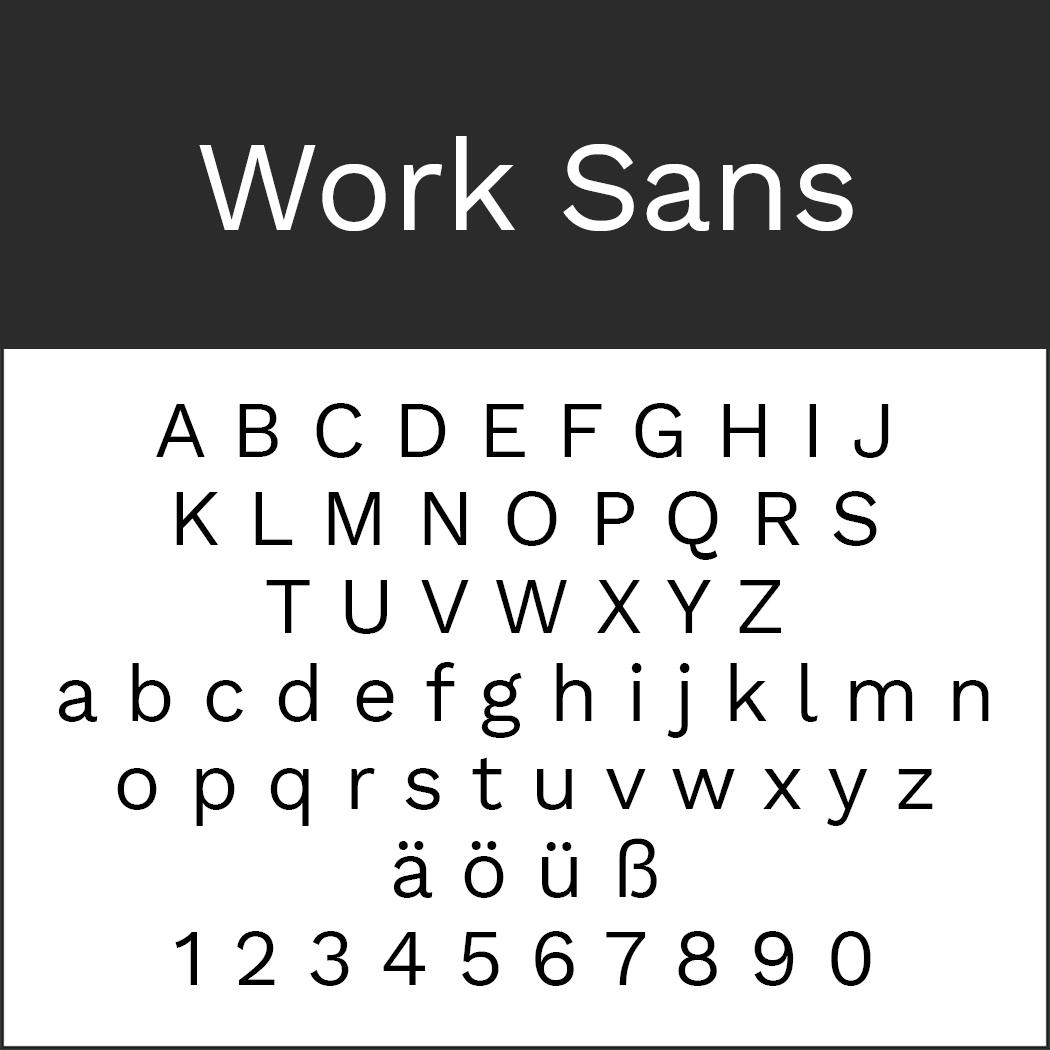 "Helvetica-Alternative ""Work Sans"" by Wei Huang"