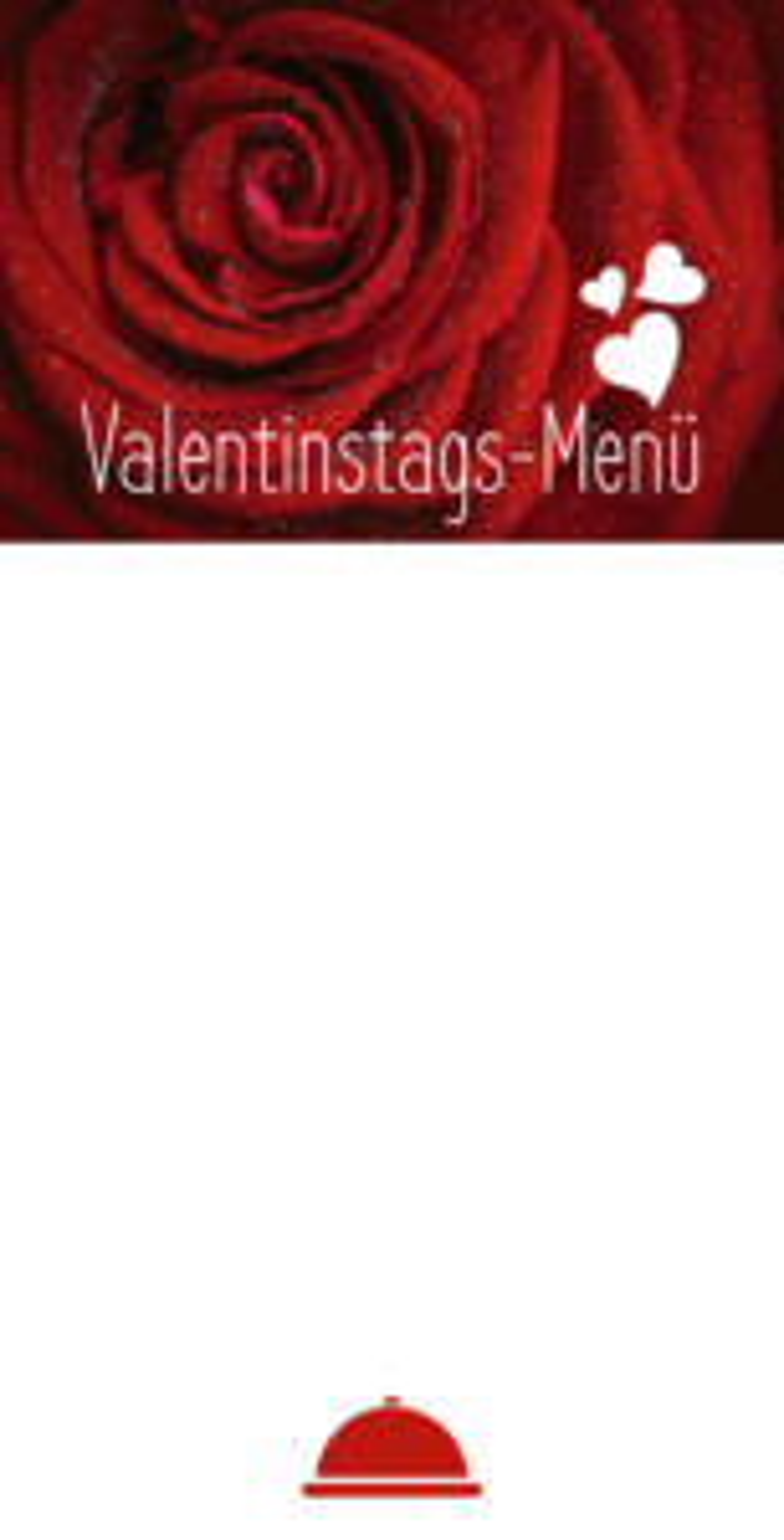 Vorlage einer Menükarte/Speisekarte für besondere Anlässe