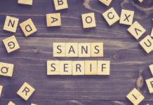 Sans Serif - Schrift ohne Serifen