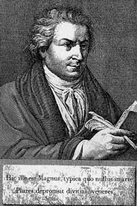 Serifenschriften-Typograf Giambattista Bodoni (1740 - 1813)