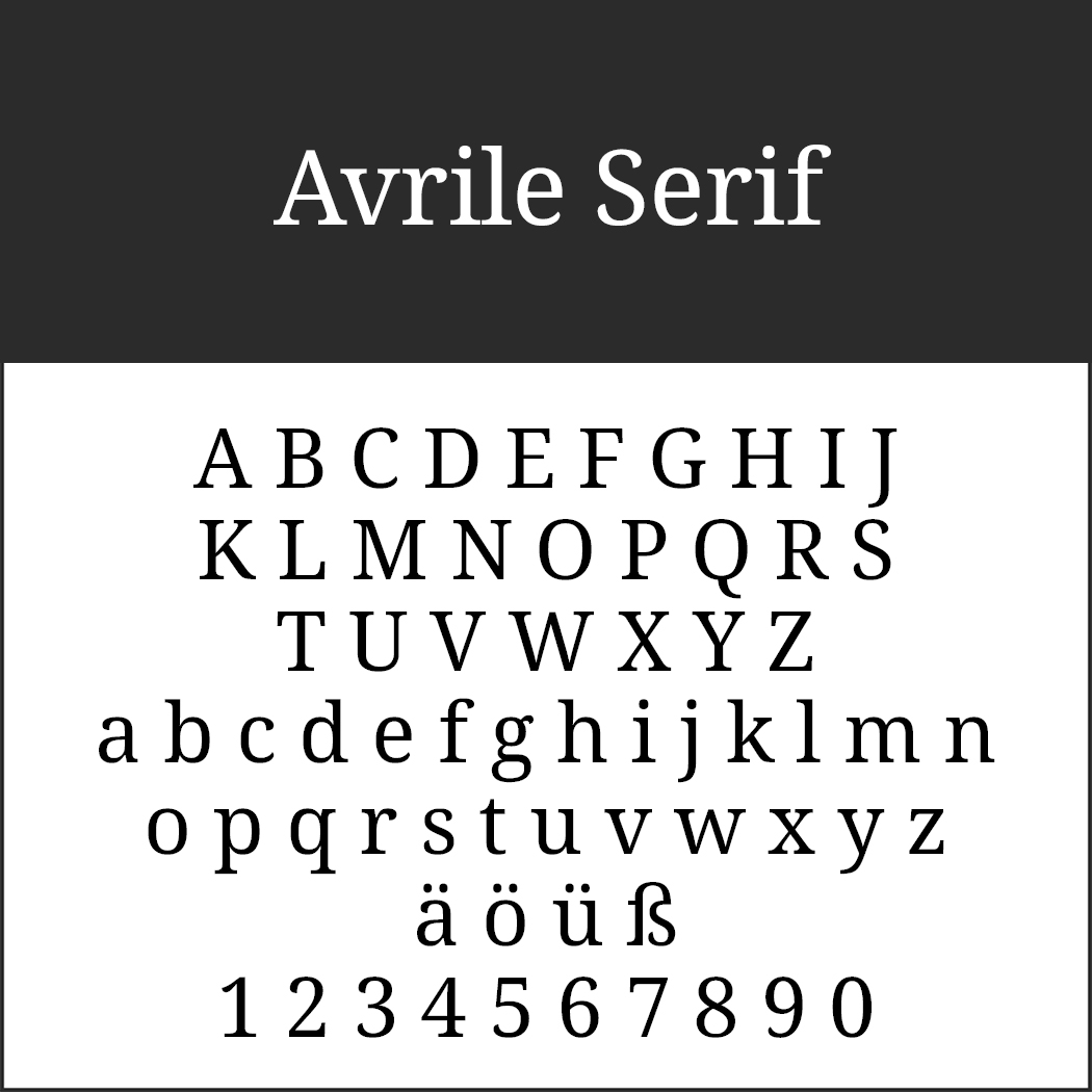 Serifenschriften: Avrile Serif by Cristiano Sobral