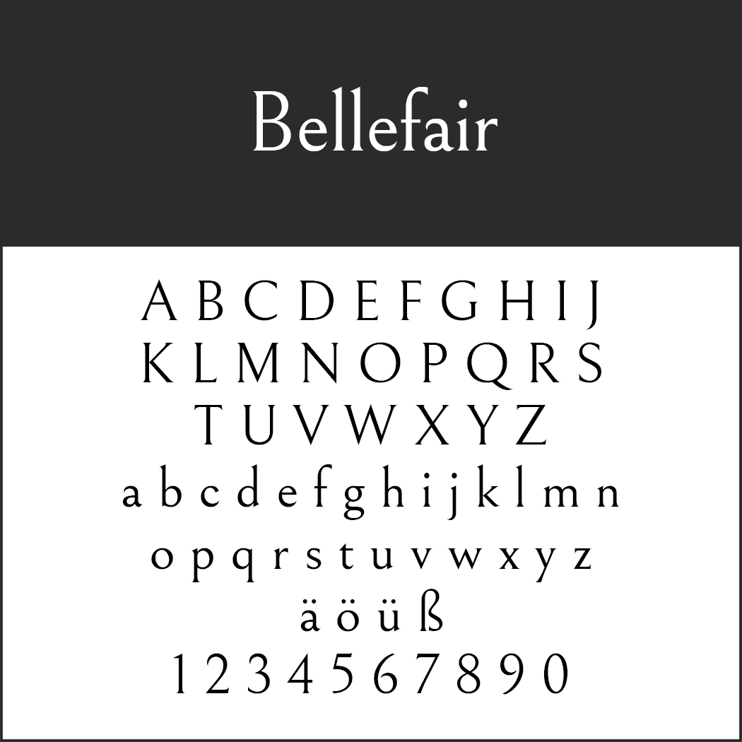 Serifenschriften: Bellefair by Shinntype