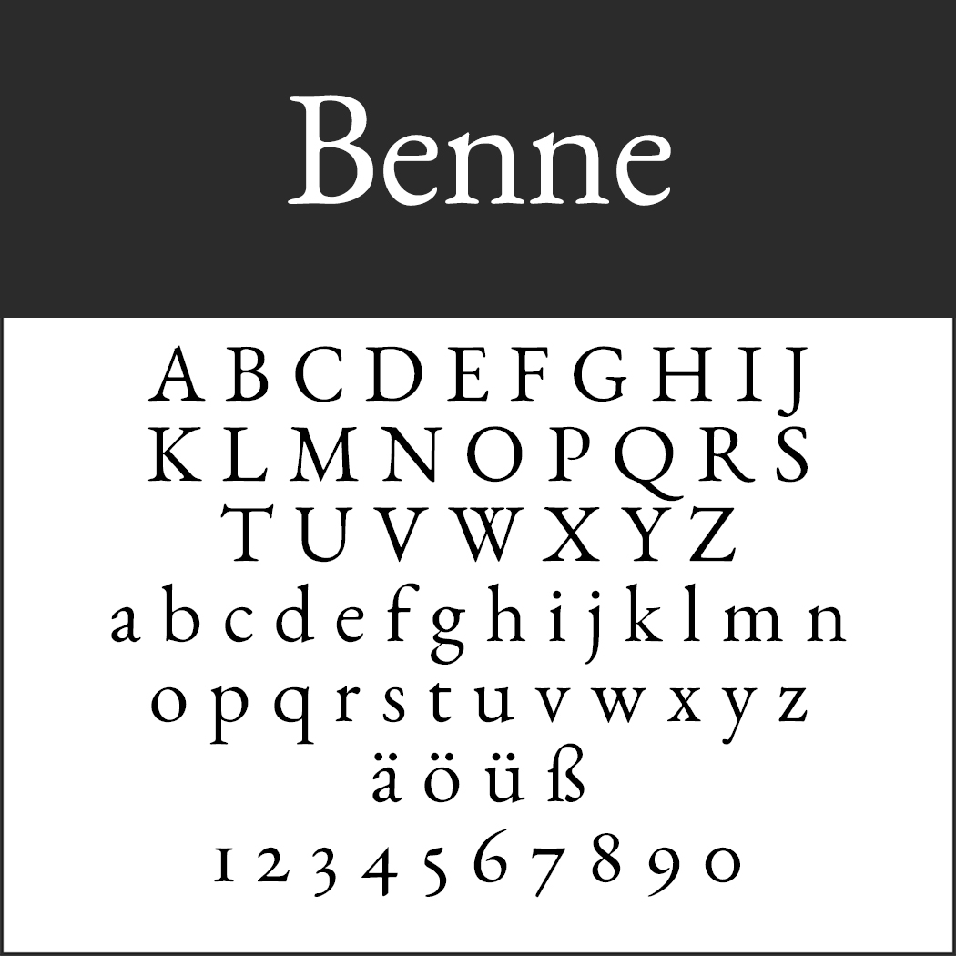 Serifenschriften: Benne by John Harrington