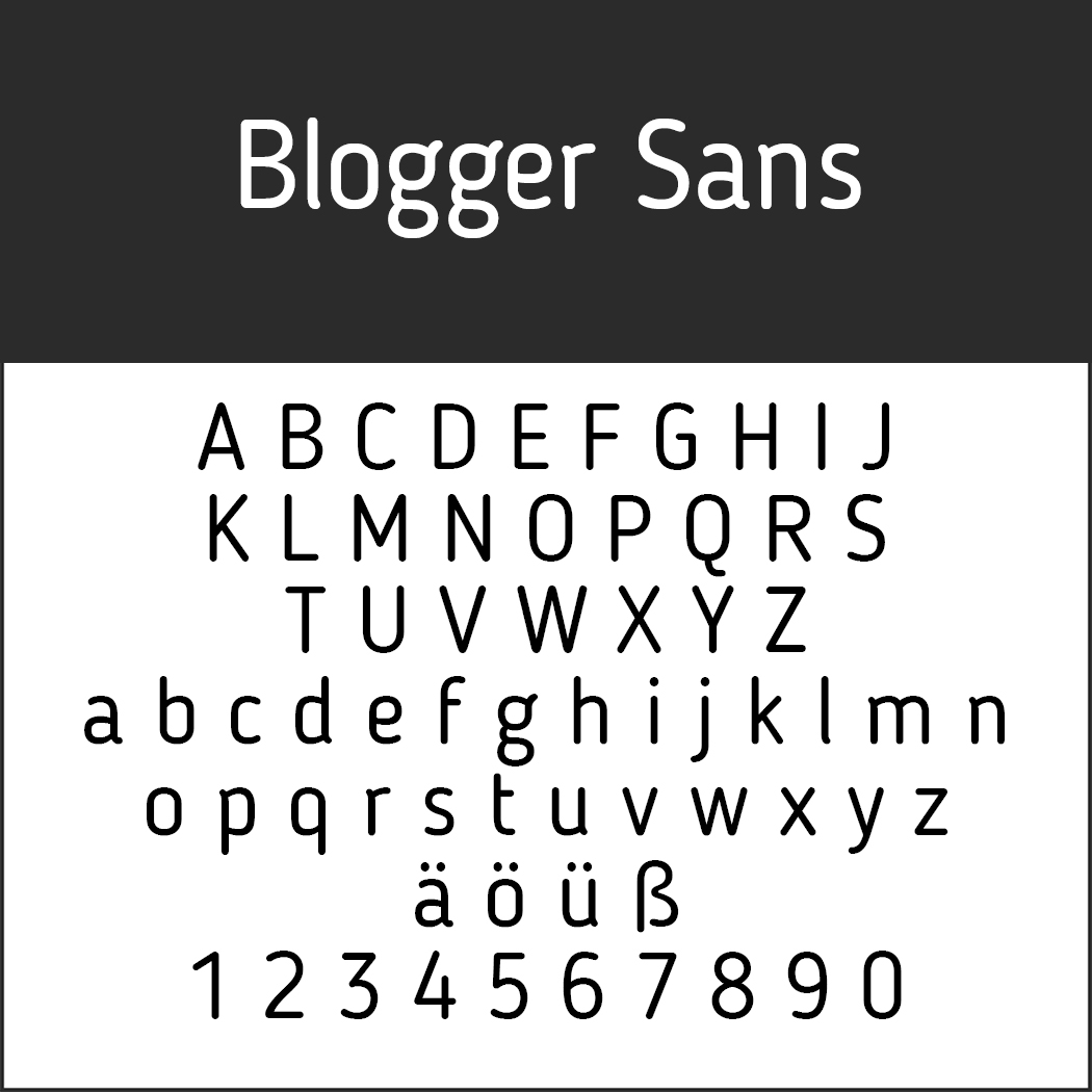 "Helvetica-Alternative ""Blogger Sans"" by Sergiy Tkachenko für FirstSiteGuide"