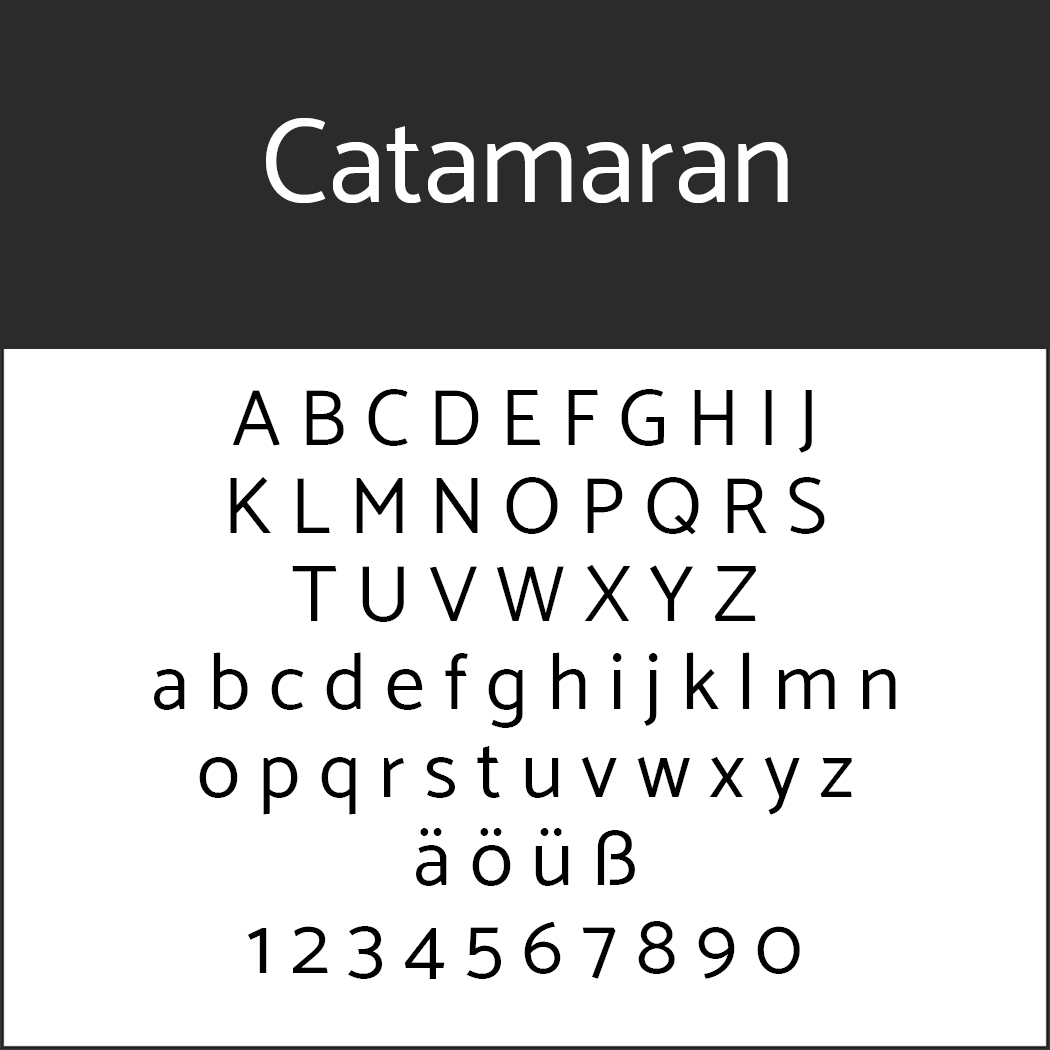Serifenlose Schrift Catamaran