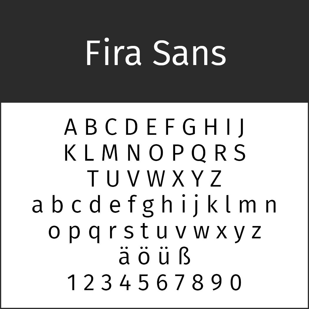 "Helvetica-Alternative ""Fira Sans"" by Carrois"
