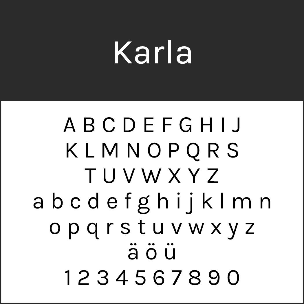 Serifenlose Schrift Karla