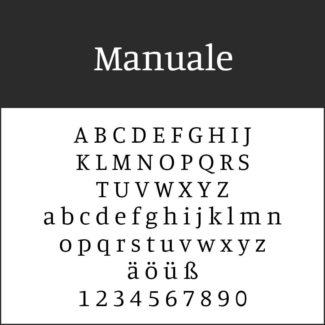 Times New Roman - Alternative: Manuale