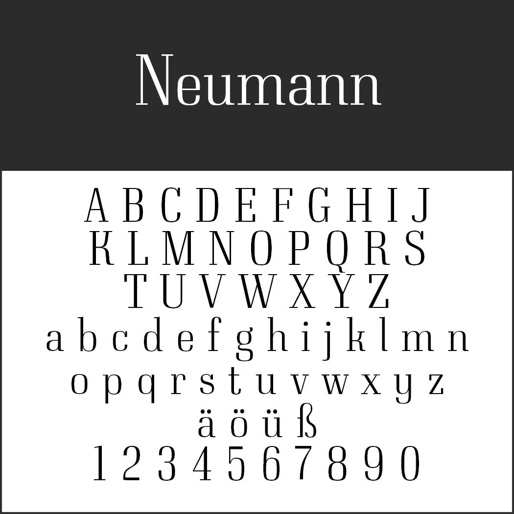 Serifenschriften: Neumann by typedepot