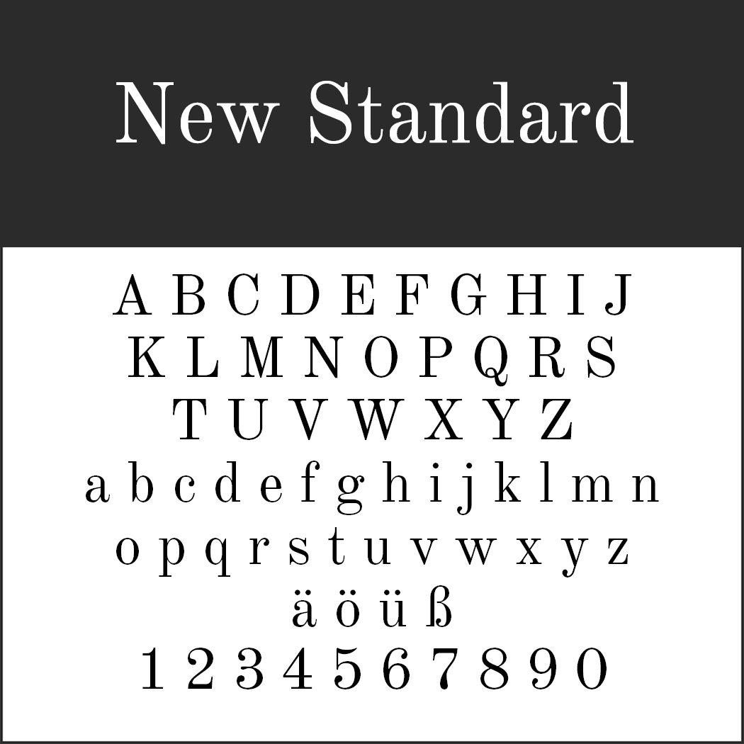 Serifenschriften: New Standard by Flanker