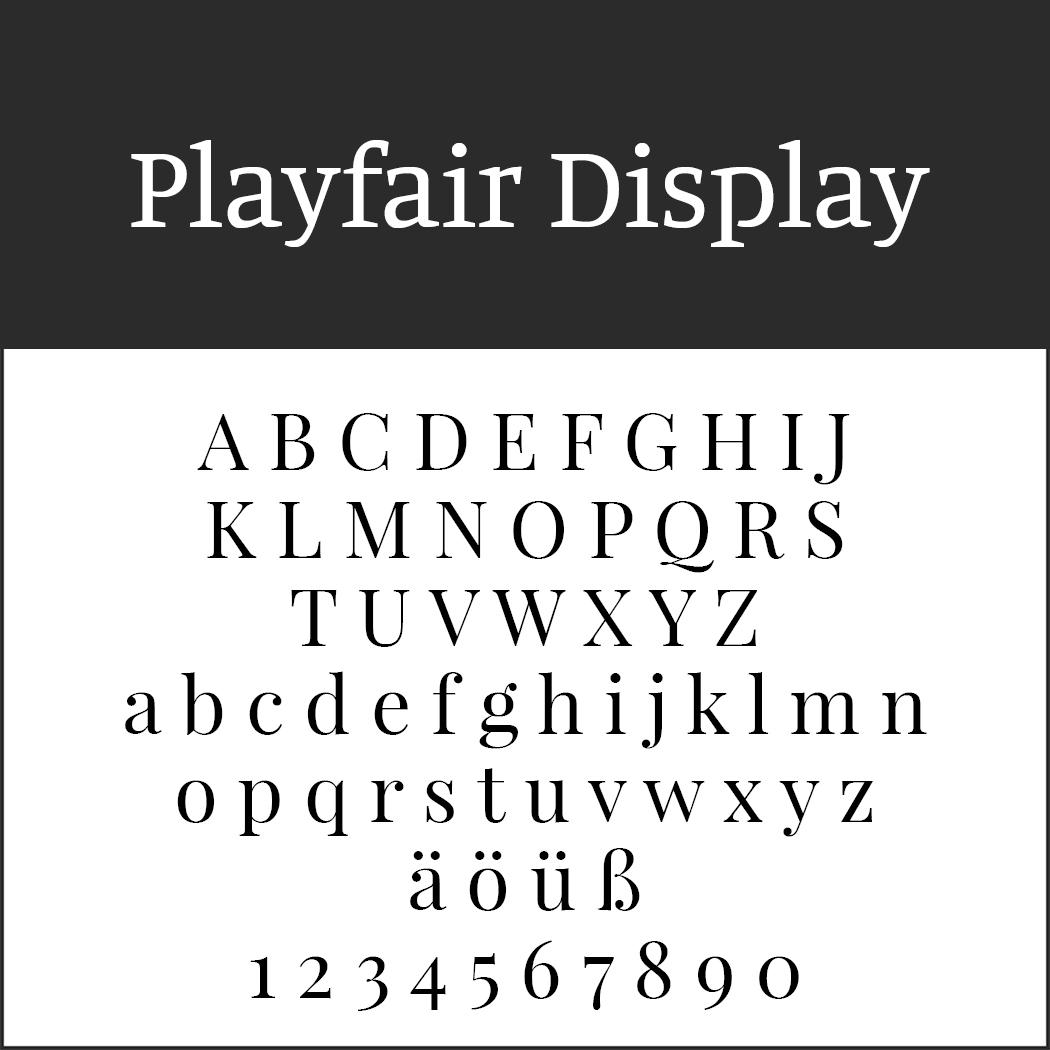 Times New Roman - Alternative: Playfair Display