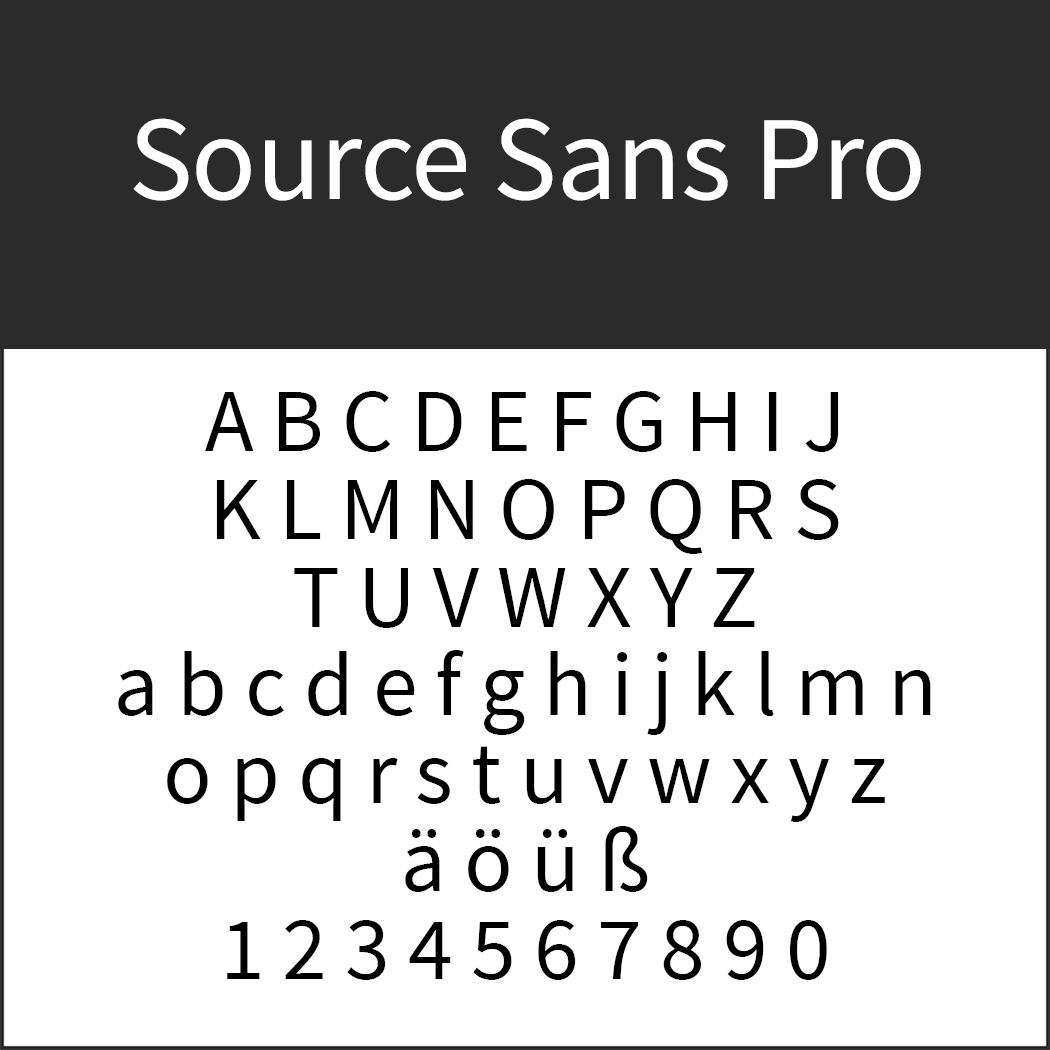 """Font """"Sources Sans Pro"""" by Paul D. Hunt für Adobe"""