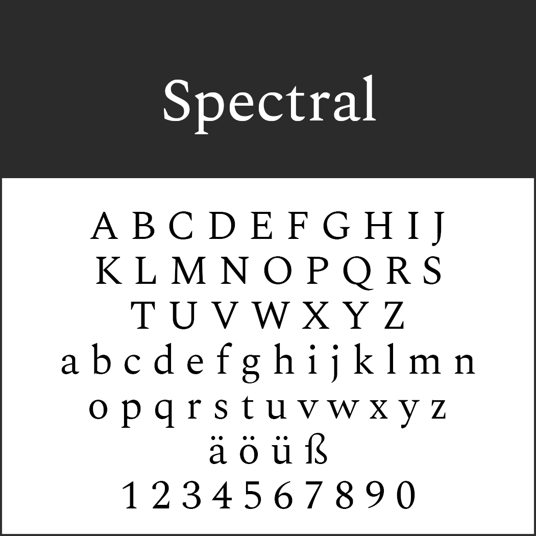 Serifenschriften: Spectral by Production Type