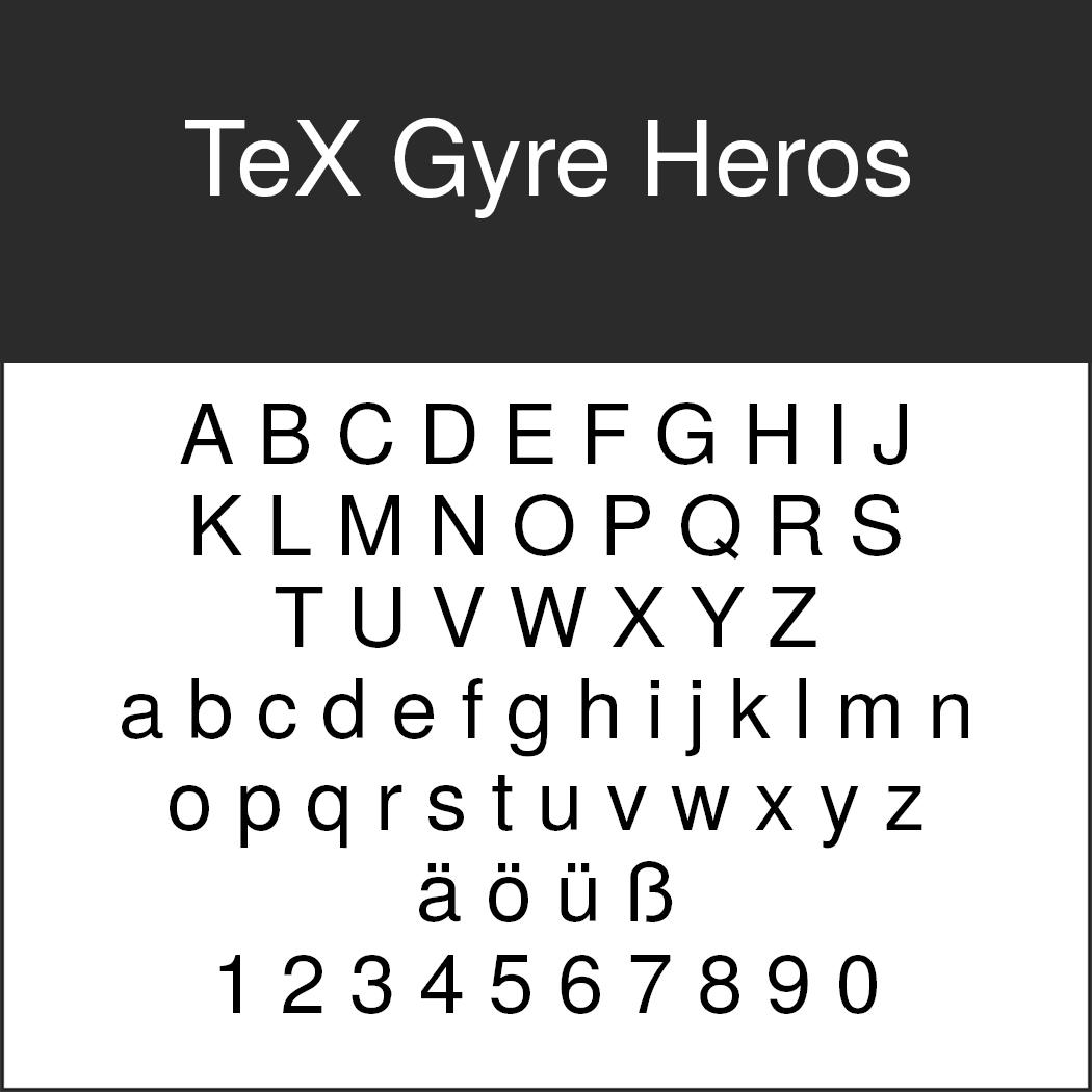 """Helvetica-Alternative """"TeX Gyre Heros"""" by GUST e-foundry"""