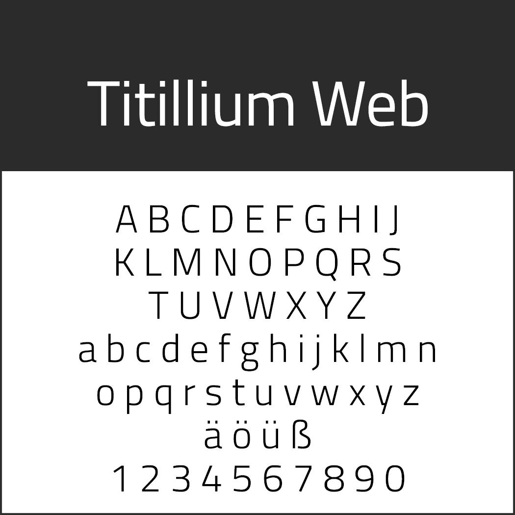 """Jubiläumsschrift """"Titillium Web"""""""