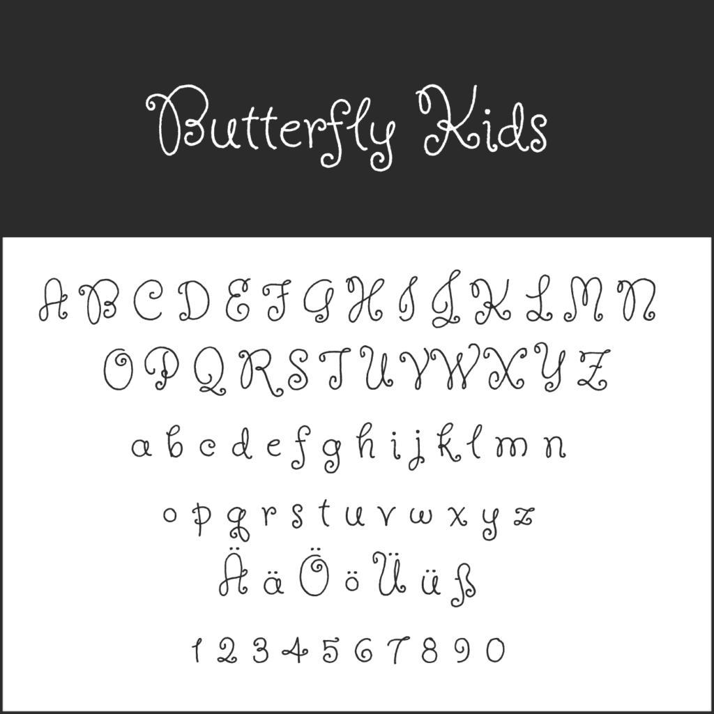 """Schnörkelschrift """"Butterfly Kids"""""""