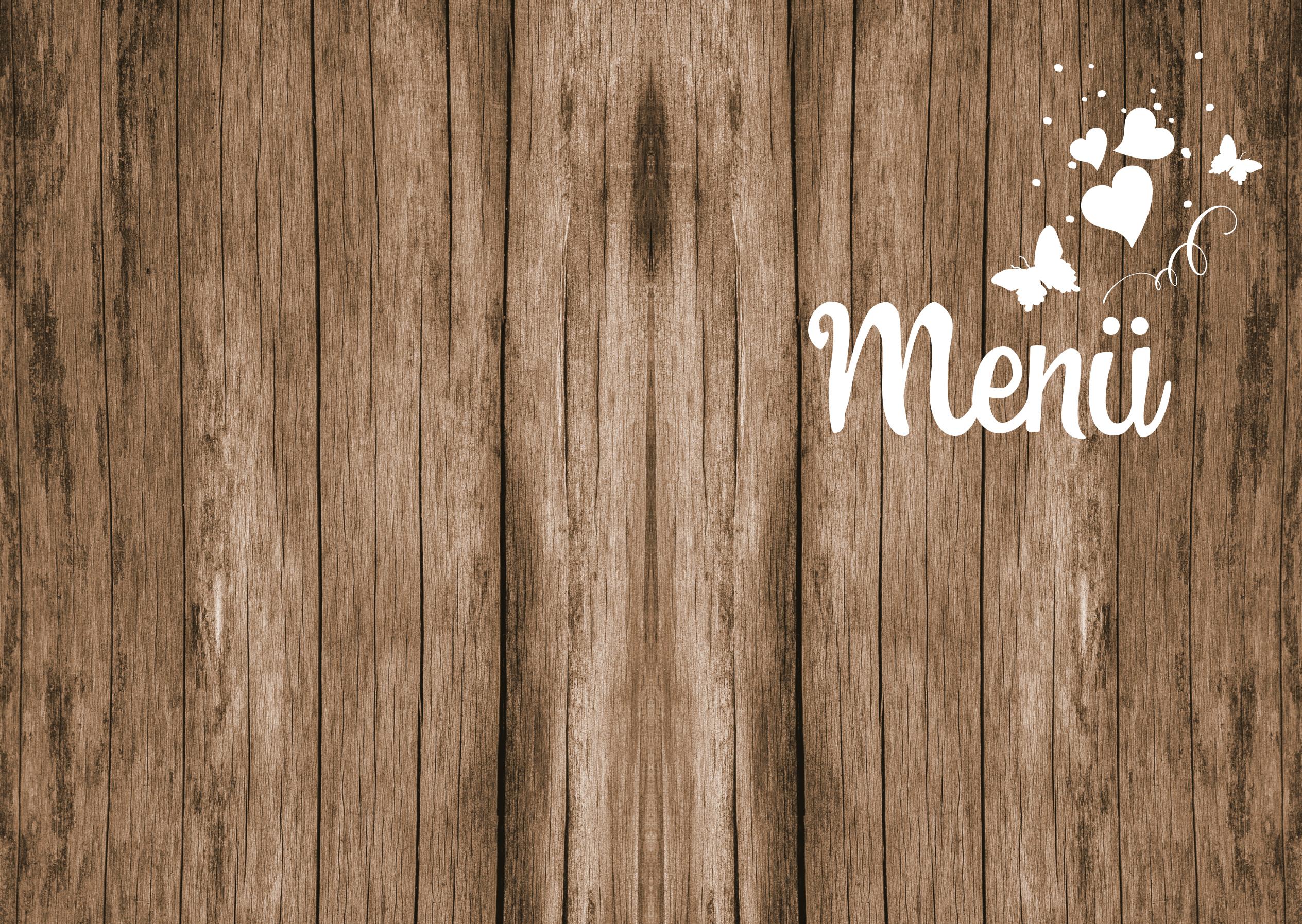 Vorlage einer Menükarte/Speisekarte als Klappkarte