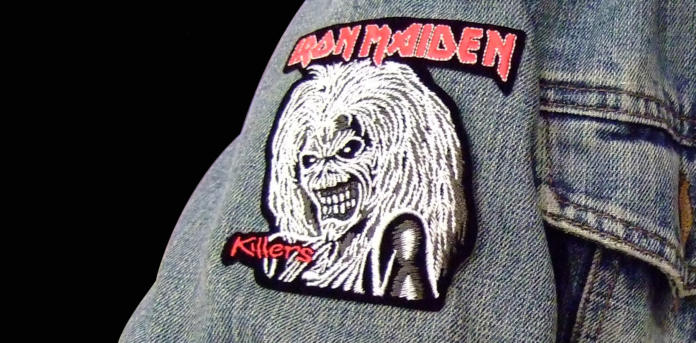Iron-Maiden-Schrift Patch