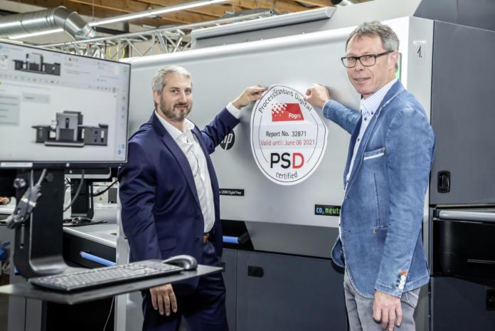 Übergabe der PSD-Zertifizierung