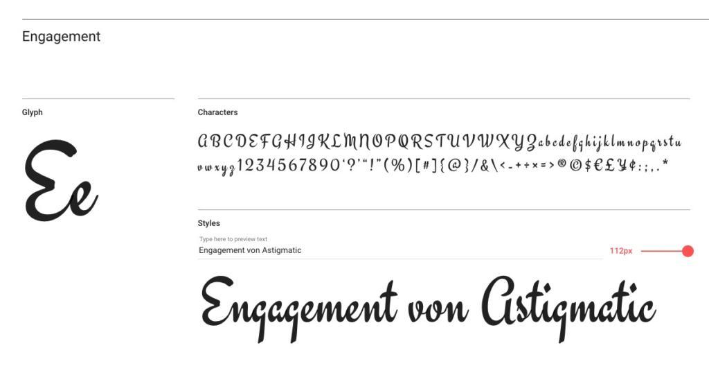 "Handlettering-Schrift ""Engagement"""