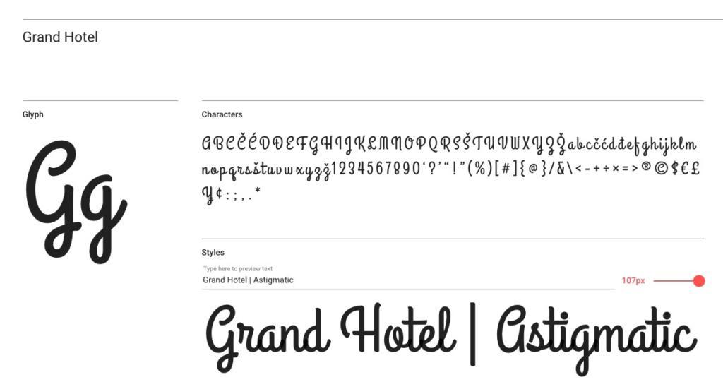 """30er Jahre Font """"Grand Hotel"""""""