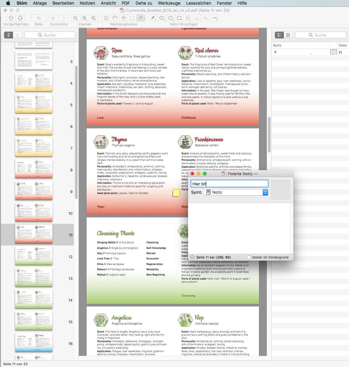 Skim zeichnet sich vor allem durch die geringe Dateigröße aus