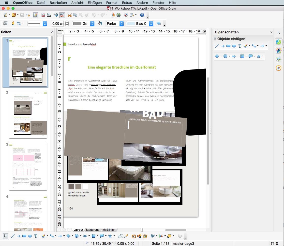 OpenOffice kann PDFs mit Hilfe einer Extension öffnen und bearbeiten