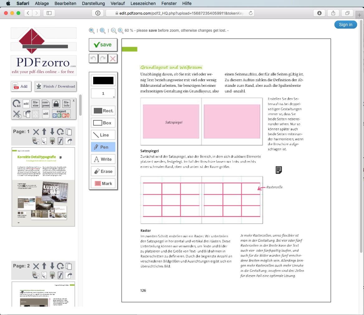 PDFzorro ist ein weiterer PDF-Onlinedienst mit, nunja, wenigstens originellem Namen