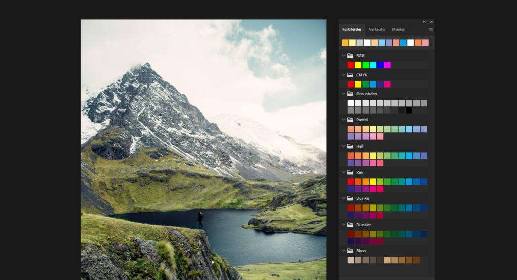 Erweiterte Farbpalette und neue Verlaufsbibliothek