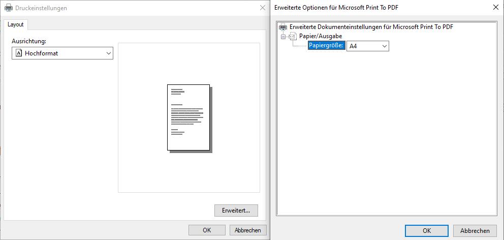 PDF erstellen Windows 10