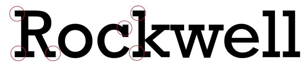 """Serifenbetonte Schriftart """"Rockwell"""""""
