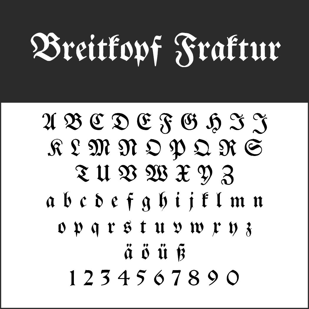 """Frakturschrift """"Breitkopf Fraktur"""""""