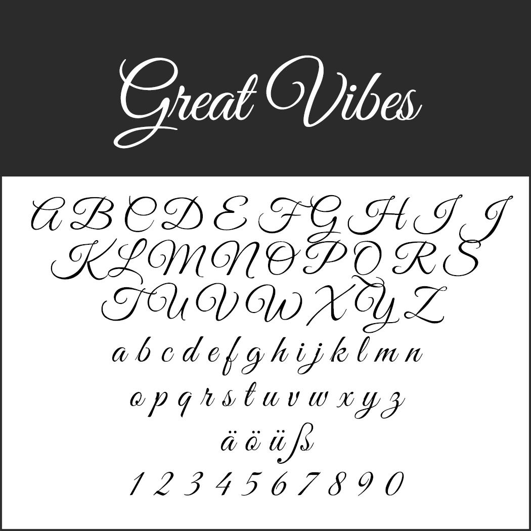 "Elegante Schrift ""Great Vibes"""