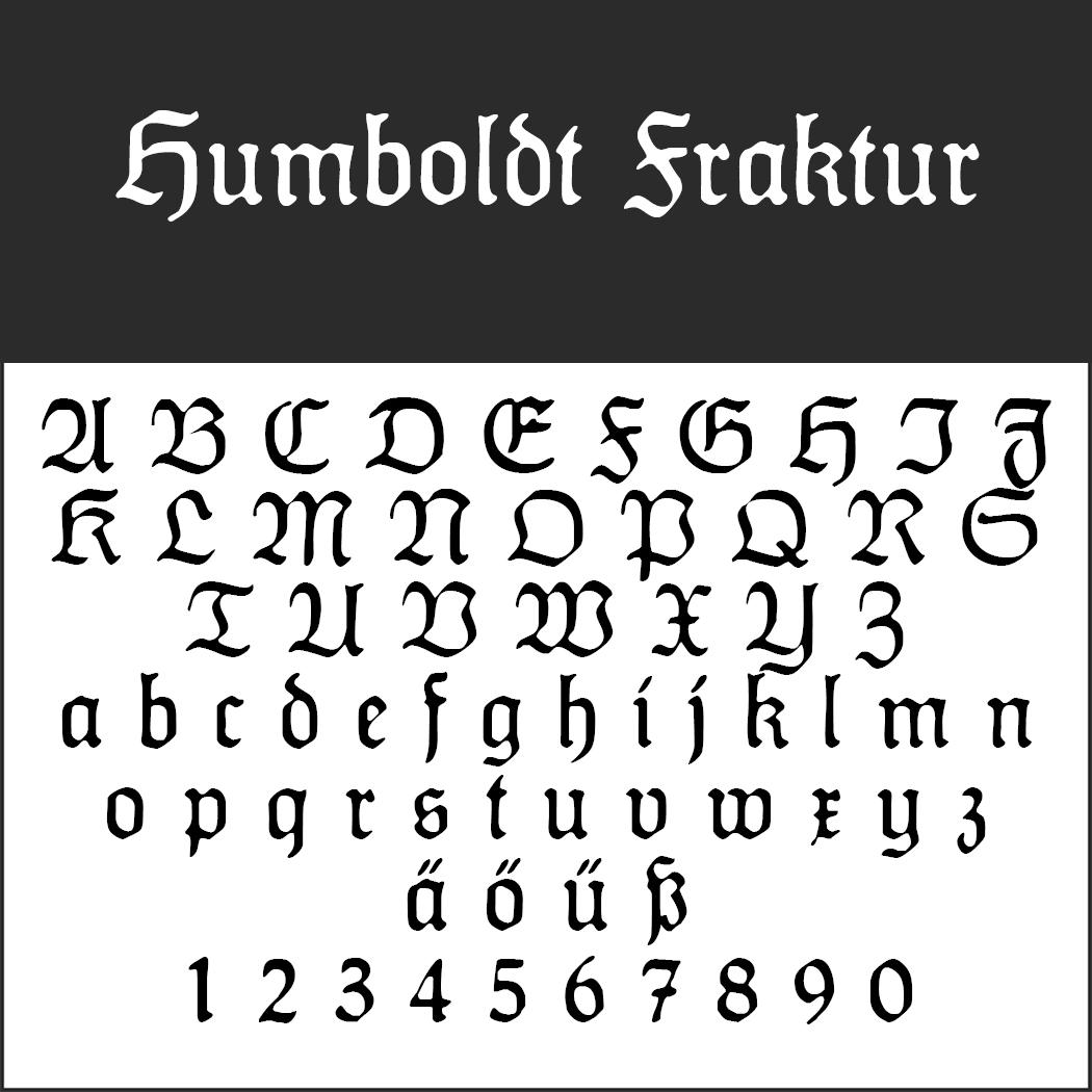 """Frakturschrift """"Humboldt Fraktur"""""""