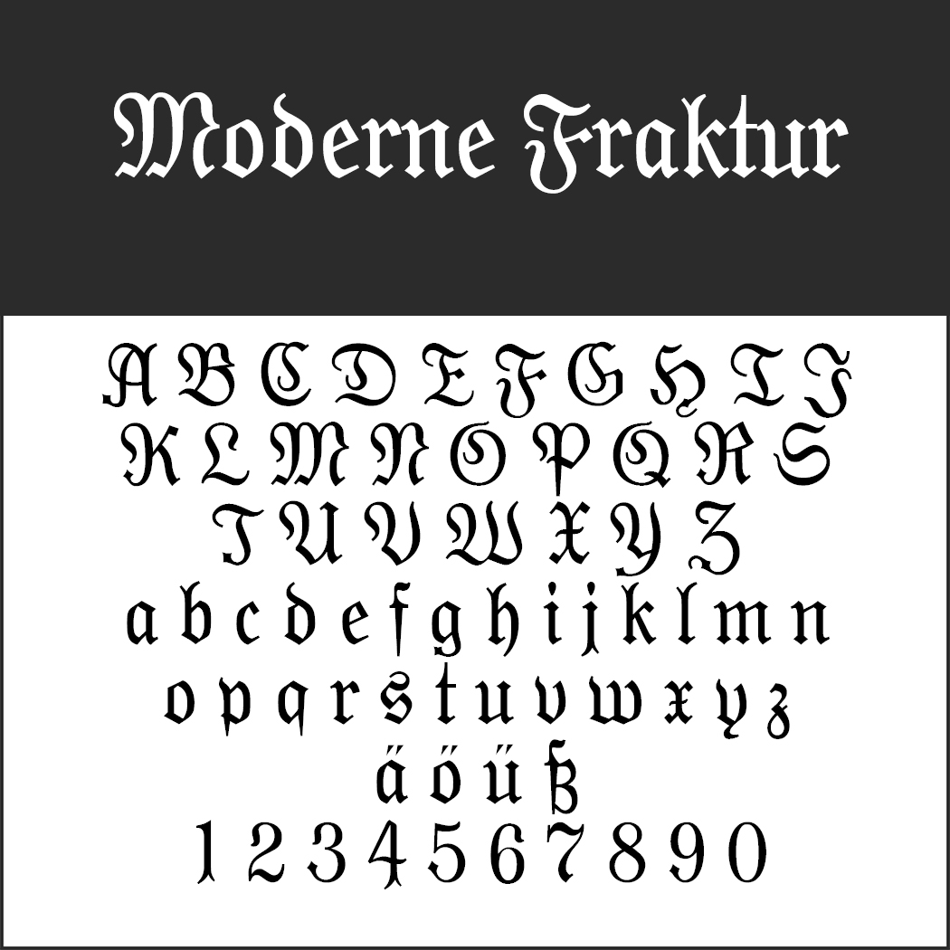"Frakturschrift ""Moderne Fraktur"""