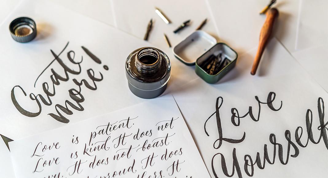 Kalligraphie Schrift Schon Modern Kostenlos In Word Nutzen