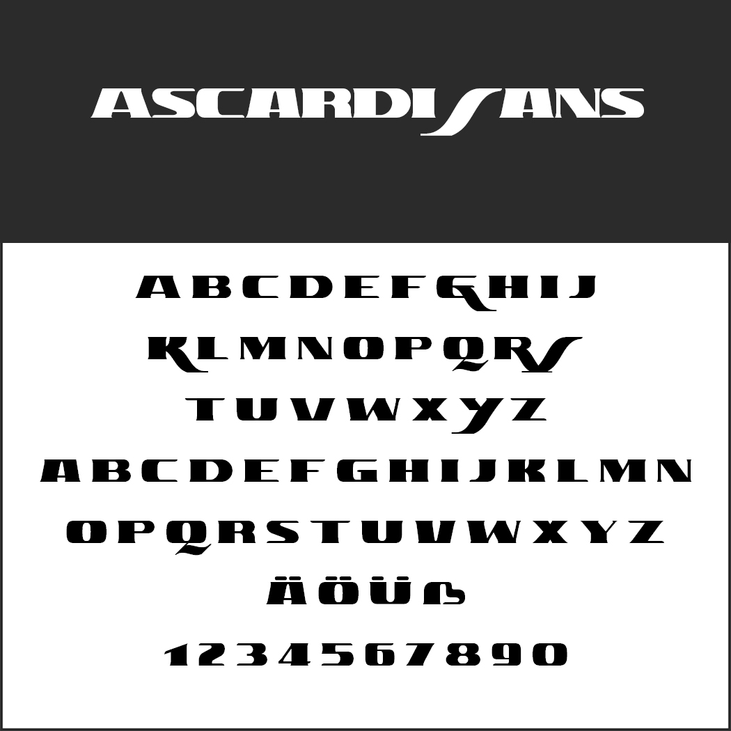 "Moderne Schriftart ""Ascardi Sans"""
