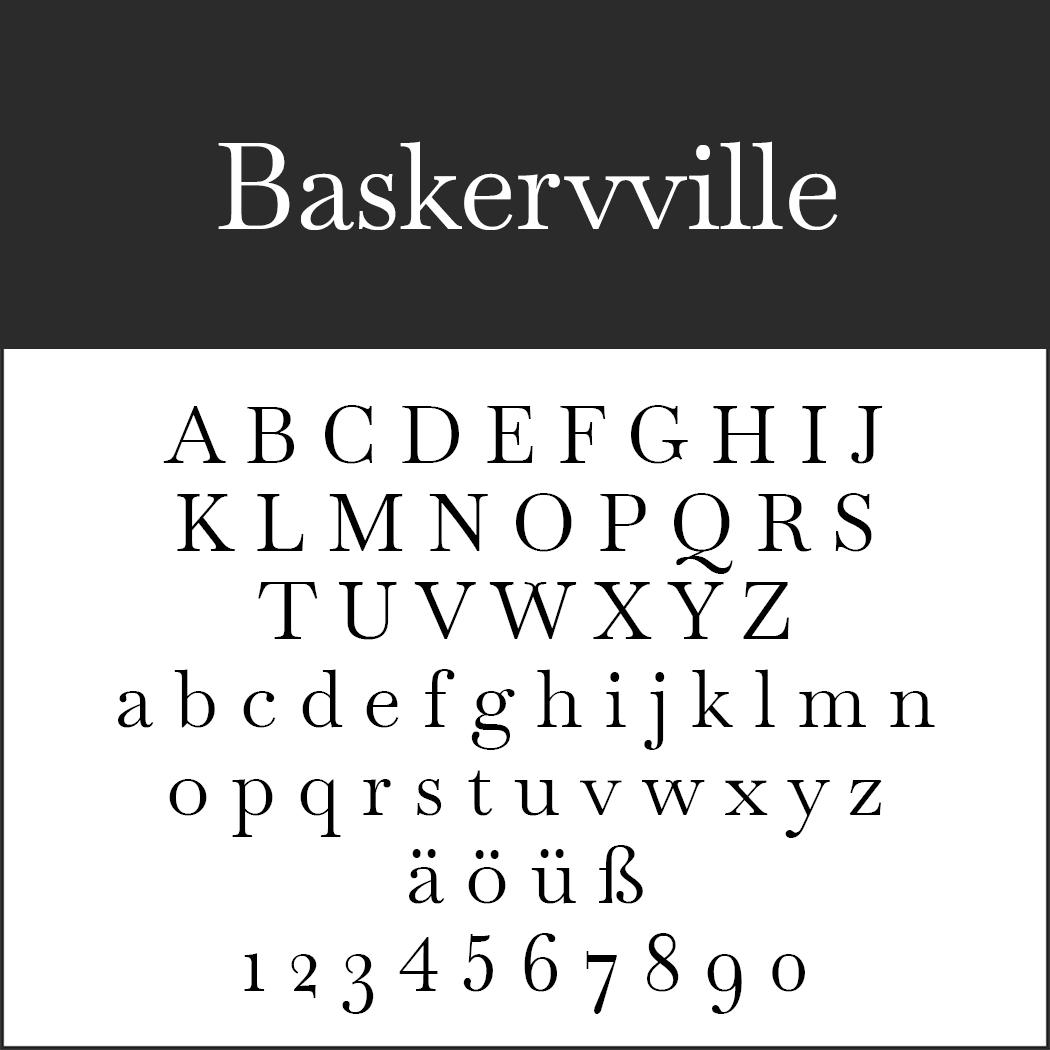"""Jubiläumsschrift """"Baskervville"""""""