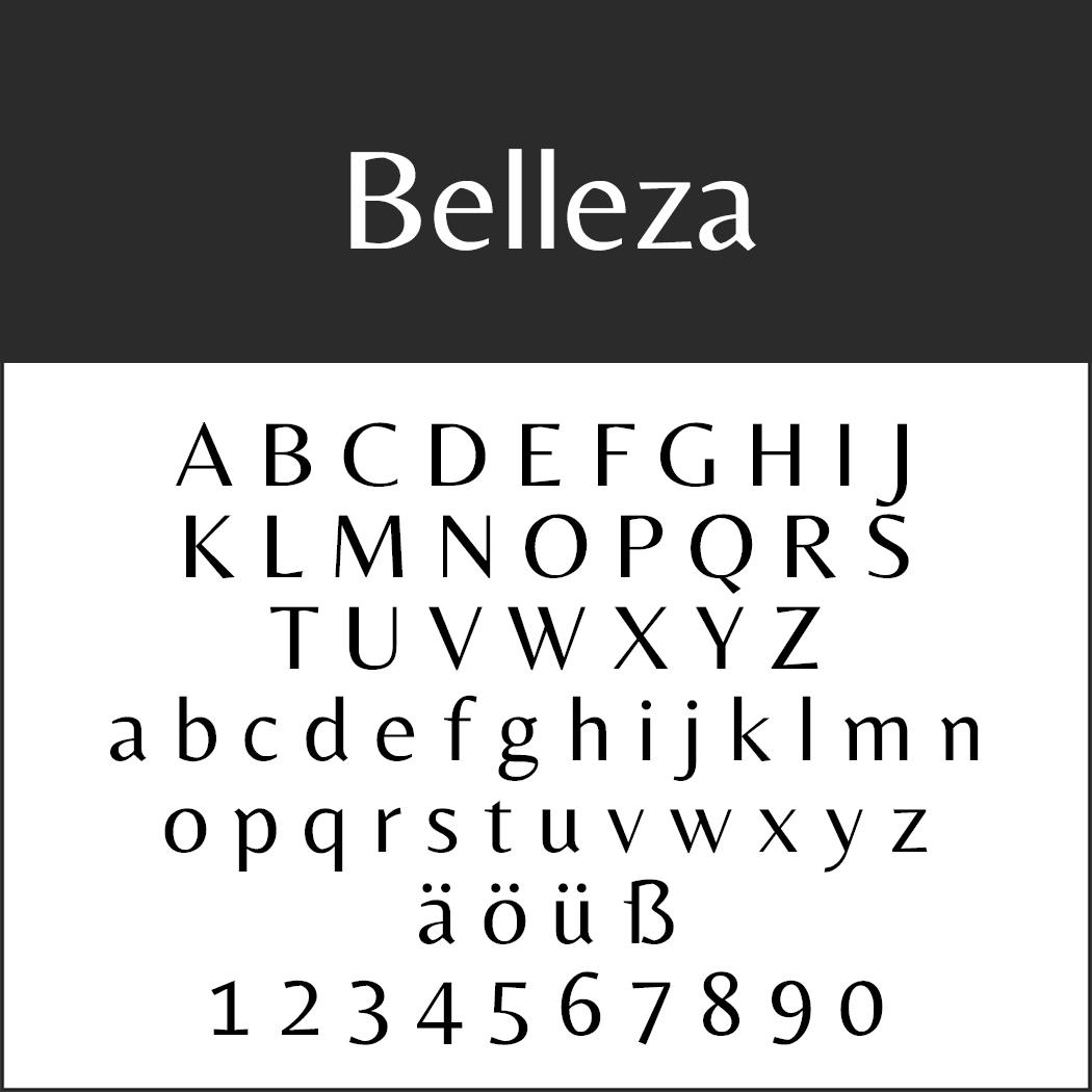 """Elegante Schrift """"Belleza"""""""